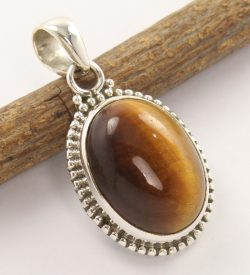 925 silver tiger eye pendant