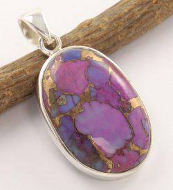 Purple copper turquoise pendant