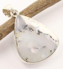 Dendritic agate 925 silver jewellery pendant