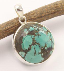 tibetan turquoise 925 silver pendant