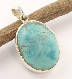 Tibetan turquoise 925 silver pendant.